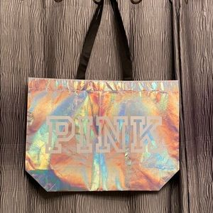 PINK NWT- iridescent tote